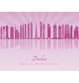 Dubai V2 skyline in purple radiant orchid vector image vector image