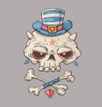 Cartoon skull for web and vector image