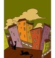 Cat city vector image
