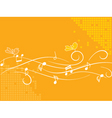 birds and music vector image