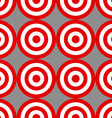 Seamless pattern of targets over grey vector image