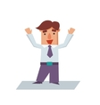 Happy Business Man Cartoon Character vector image vector image