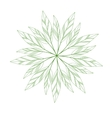 green leaves mandala vector image vector image