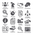 Business management icons Pack 18 vector image