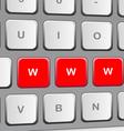 Keybord vector image vector image