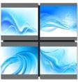 Abstrakt blue background vector image