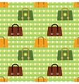 Colorful seamless pattern Various bags on vector image