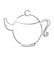 cute teapot isolated icon vector image