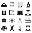 Education simple icons vector image