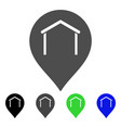 hangar map marker flat icon vector image