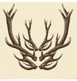 Hipster vintage background with deer antlers vector image