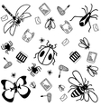 Insects doodle for kids vector image