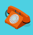 red old phone isometric view vector image