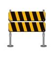street traffic barrier icon design vector image