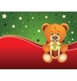 Teddy Bear with Gift Box3 vector image