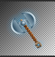 warrior two blades ax isolated game element vector image