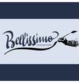 Bellissimo hand lettering - handmade calligraphy vector image vector image