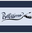 Bellissimo hand lettering - handmade calligraphy vector image