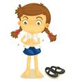 a girl in school uniform vector image vector image