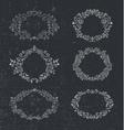 Set of hand drawn frames floral vintage vector image
