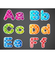 Six colorful letters of the alphabet vector image vector image