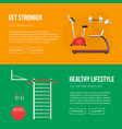 gym training bodybuilding healthy banners vector image