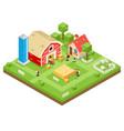 village agriculture farm rural house building vector image