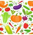seamless vegetable pattern vector image