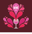Wine Glass and Abstract Sprays vector image