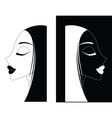 Girl or Women ying-yang vector image