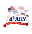 4 july independence day design vector image