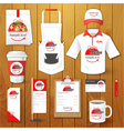 Set of restaurant corporate identity uniform vector image