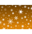 snowflakes orange vector image vector image
