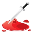 Dagger and blood vector image