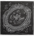 Coffee time decorative border Background vector image