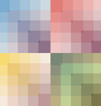 colored set seamless pattern vector image