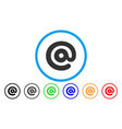 email symbol rounded icon vector image