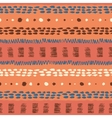 Ethnic grunge seamless pattern vector image