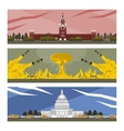 flat banners cold war vector image
