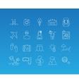 Summer mono line icon set vector image