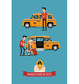 Taxi with Wheelchair Access Icon vector image