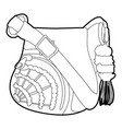 teenage school backpack icon outline vector image