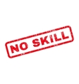 No Skill Rubber Stamp vector image