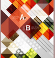 square modern abstract background vector image vector image