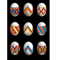 Collection of patterned Easter eggs vector image