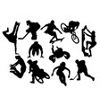 extreme sports activity silhouettes vector image