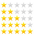 golden stars rating vector image