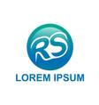 Initials rs logo vector image