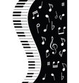 music piano note vector image vector image