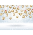 Christmas bokeh poster with Tree EPS 10 vector image vector image